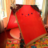 Cotton red fabric child square roof teepee tent ,child house,Gift, toy, with EN71 rohs certification