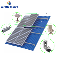 Pitched Corrugated Trapezoidal Standing Seam PV Structure Solar Panel Metal Tin Roof Mounting Brackets