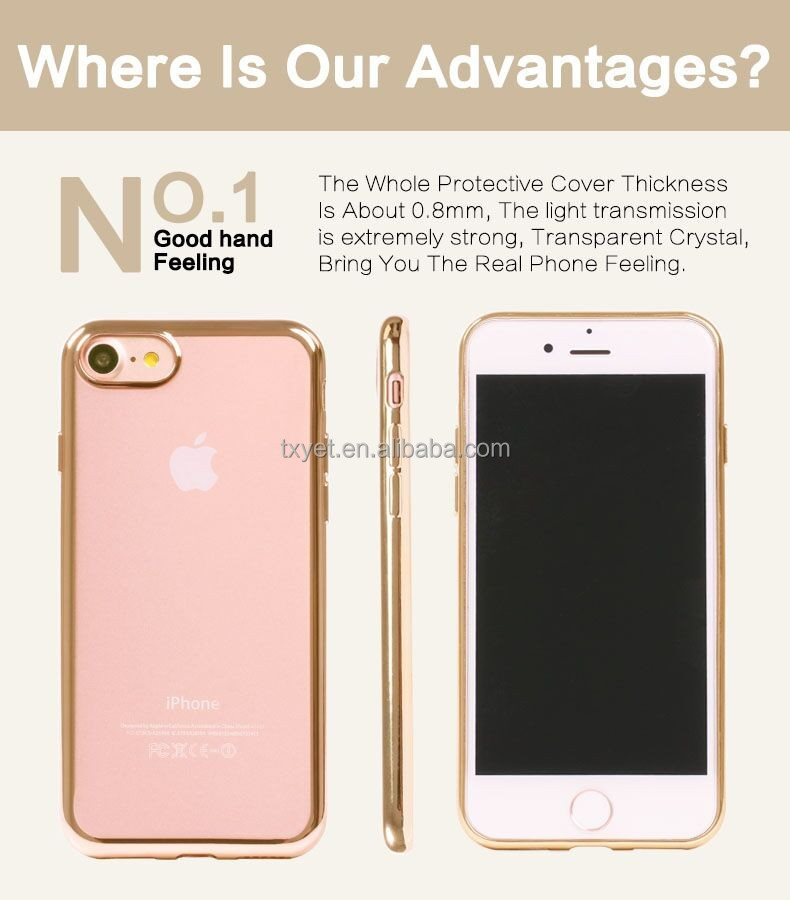 High demand Cell mobile phone electroplating design tpu cove case for iphone 6 6s