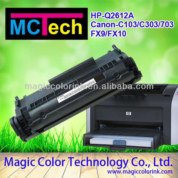 Q2612A for HP LaserJet 1010 12a toner cartridge