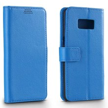 PU Leather Wallet Case Flip Cover For Samsung Galaxy S3 S4 S5 S6 S7 edge S8 Litchi wallet stand flip cover