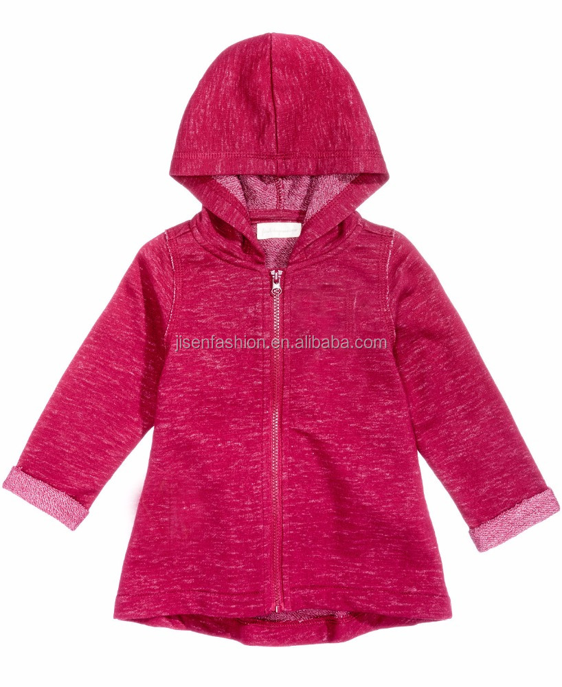 Clothing Wholesale Zip-Up Girls Hoodies Sports Fashion Baby Hoodies