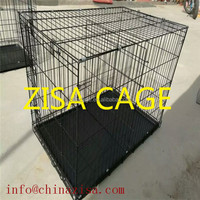 China zisa factory Cheap CAGE 20'' 24'' 36'' 42'' metal dog crate /dog kennel for sale
