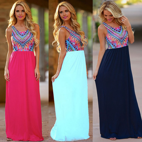 2016 Guangzhou YYW brand name new fashion design summer beautiful chiffon maxi dresses