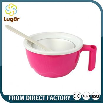 Excellent Quality Brand New Design Custom Design FDA/LFGB Approved Ice Cream Bowls And Spoons