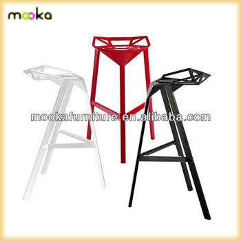 konstantin grcic magis stool one aluminium stackable metal bar stool buy metal bar stools. Black Bedroom Furniture Sets. Home Design Ideas