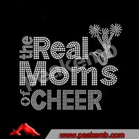 wholesale crystal the real moms of cheer rhinestone transfers for tshirts