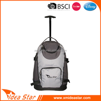 Latest durable two wheels backpack sport travel trolley luggage bag