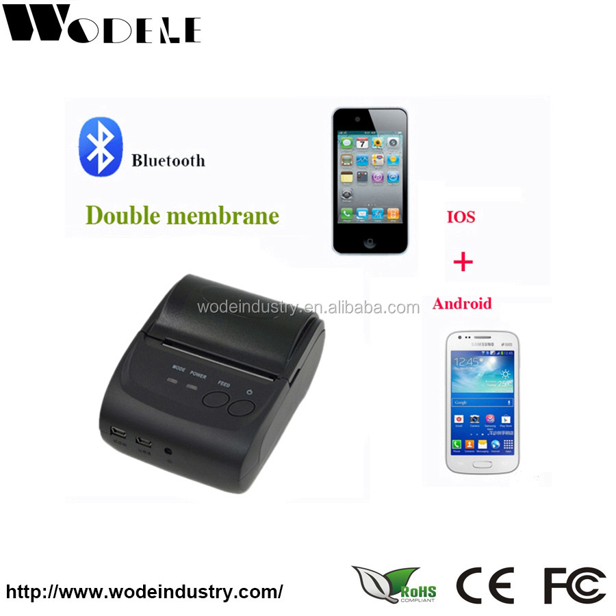 WODE Black and White Mobile Printer(WD-58GL)