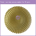PZ00560 new design wedding pearl gold silver glass charger plates