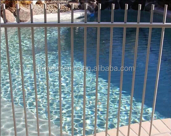 swimming Pool Garden Backyard Fencing bracket /Black Powder Coated Pool Fence factory