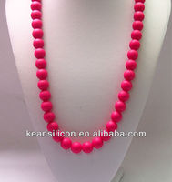 Ruby Beads Necklace Design/Magenta Beads Necklace