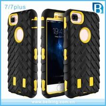 Heavy Duty Impact Tyre Phone Case Rugged Cover For iPhone 7 Hybrid 3 in 1 Silicone Plastic Hard Shell