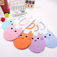CUTE CAT LADIES WOMENS NO SHOW SHOE LINERS INVISIBLE silica gel SOCKS