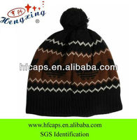 2013 fashion pom double knitted winter hat for men small order
