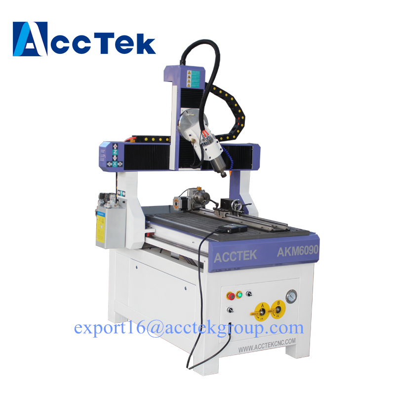 Mini small cnc wood router 3axis 4 axis 5 axis milling machine for metal Mach3 control for sale
