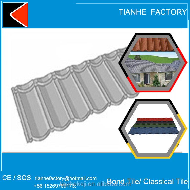 roof philippines stone chip coated type covered heat protection zinc covering steel construction