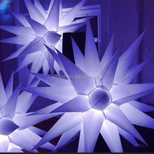 Inflatable Led Lighting Hanging Star / Inflatable Light Balloon For Party Decoration