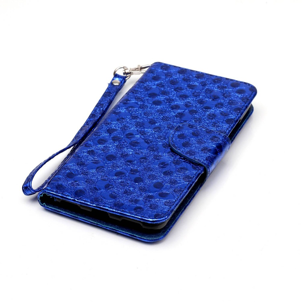 Book Wallet Laser butterfly leather flip phone case for Huawei Y6-2