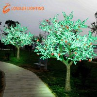 outdoor use artificial apple trees with led lights for garden lighted fruit tree