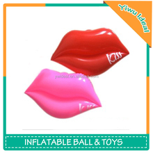 Custom Logo Pink PVC Inflatable Mouth Beach Ball