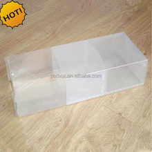 Plastic PET folding transparent big clear box for shoes