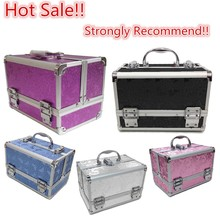 2015 Idea New Product Aluminium Beauty Butterfly Makeup Jewelry Box