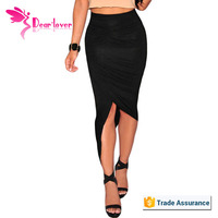 Fashion Cheap Mocha Asymmetrical Draped Skirt