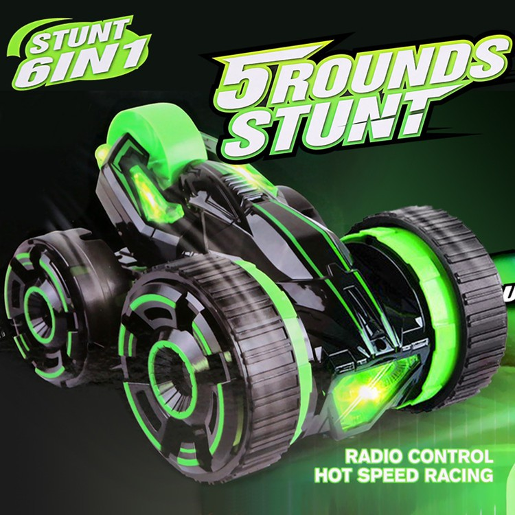 27Mhz RC toys remote control stunt car with 5 wheels