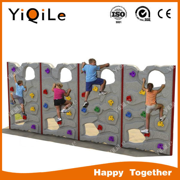Children fitness equipment mobile climbing wall plastic kids climbing toys rock climbing price