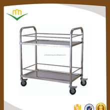 Detachable Stainless Steel Wine Trolley with Lockable Castors & Square Tube