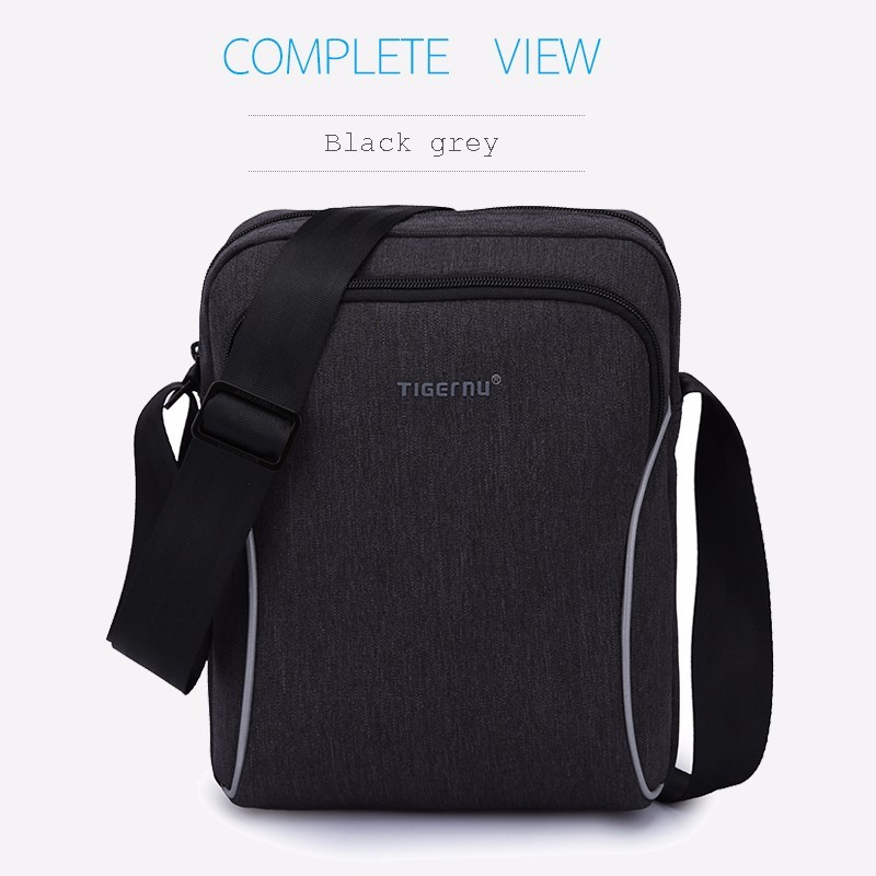 2017 Wholesale Tigernu brand waterproof vintage single shoulder mens messenger bag with shakeproof panel for tablet computer