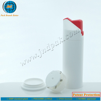 Plastic airless 180g toothpaste dispensing tube by GMP standard plant and offset printing-the world exclusive supply