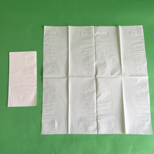 40x40cm 2ply 4fold white cheap dinner napkin