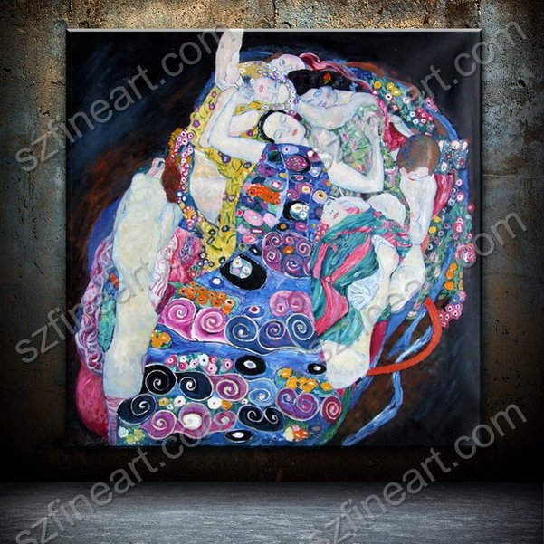 Handmade canvas masterpiece reproduction of Klimt painting