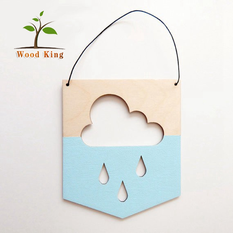 The Nordic Cloud Wooden Wall Decorated The Decoration Of Children Room Custom Plaque