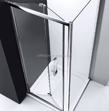 frosted glass folding shower screen door