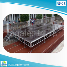 Cheap 1.22x1.22m plywood assembly movable aluminum stage