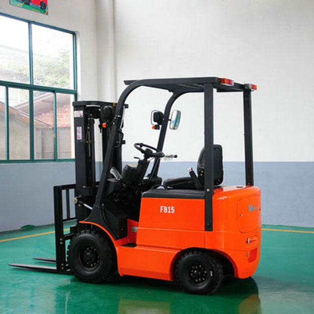 Small Electric forklift 1.5 ton mini forklift truck battery for sale