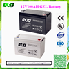 China Battery Famous brand TOYO 100ah 12v mf sla vrla battery of 12V Deep cycle battery