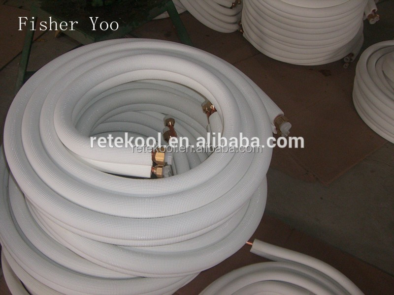 HVAC Air Conditioner insulation copper and aluminium conjunction Pipe from factory