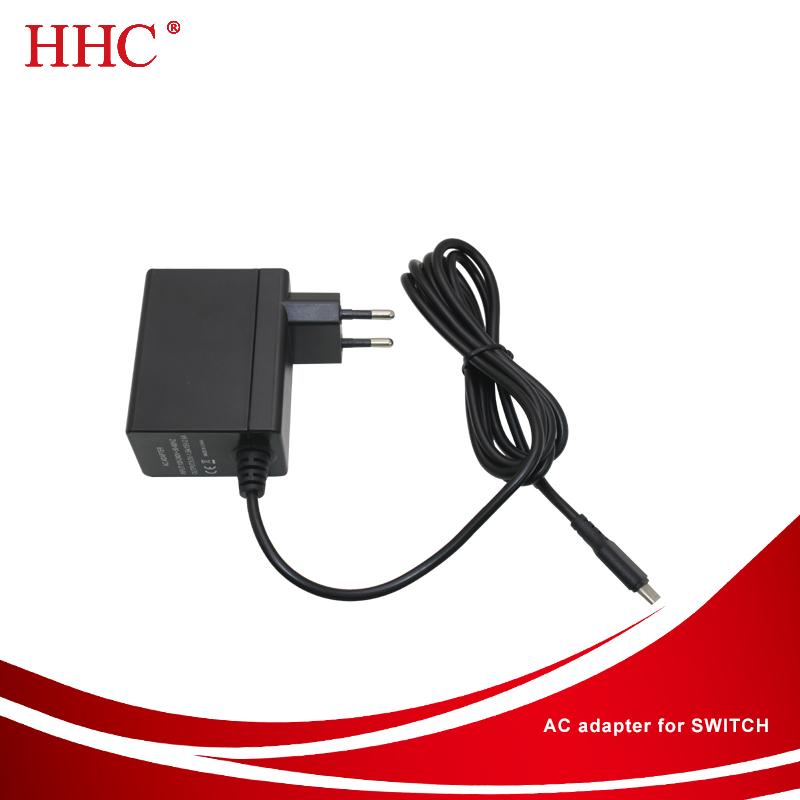 Hot Sell AC DC Adapter Wall Charger for Nintendo Switch console and dock US EU UK Plug