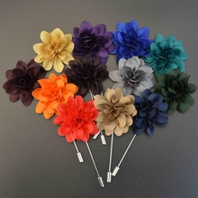 Brooch Flower for Men Suit Floral Lapel Pin of Multilayer Handmade Fabric Brooches