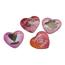 Heart sharp predesign 53x57.5mm custom logo hot sale product metal pin button badge for wedding souvenirs