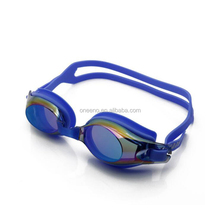 Customize Mirror Coated all over the polarized swim goggles for asian