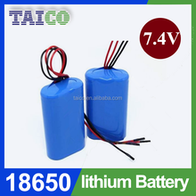 High Capacity Top Selling 2s1p 7.4v 2600mah Li ion Battery Pack