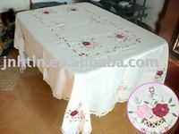 embroidery floral fancy wedding table cloths