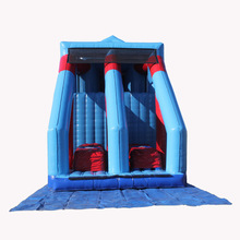 most popular spider climb base stunt jump inflatable slide/ dry slide for girls boys