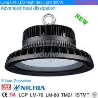 highbay & low bay waterproof IP65 led industrial light 200W high bay light fixture