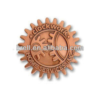 custom lapel pin with plating copper in cheap price and fast ship